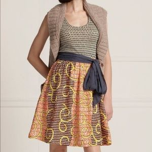 Anthropologie Porridge Flight of The Bee Dress